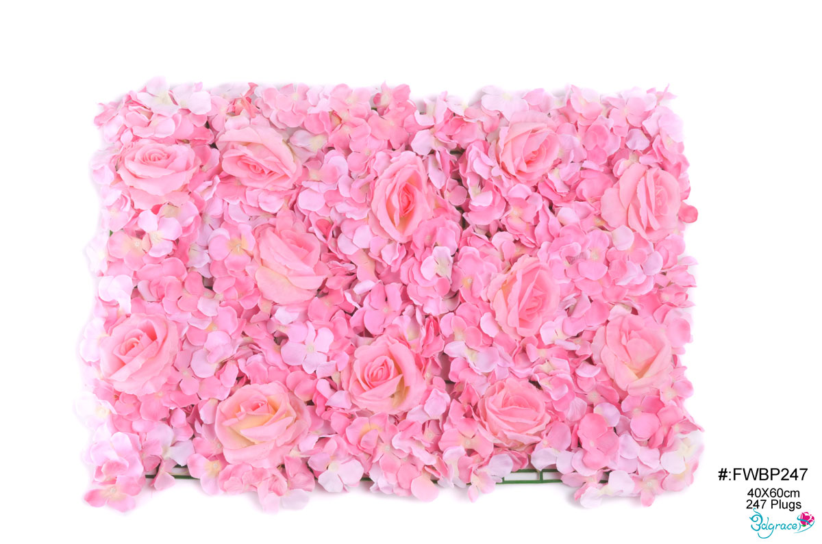 FWBP247 Lt.Pink FW Artificial Flower Backdrop