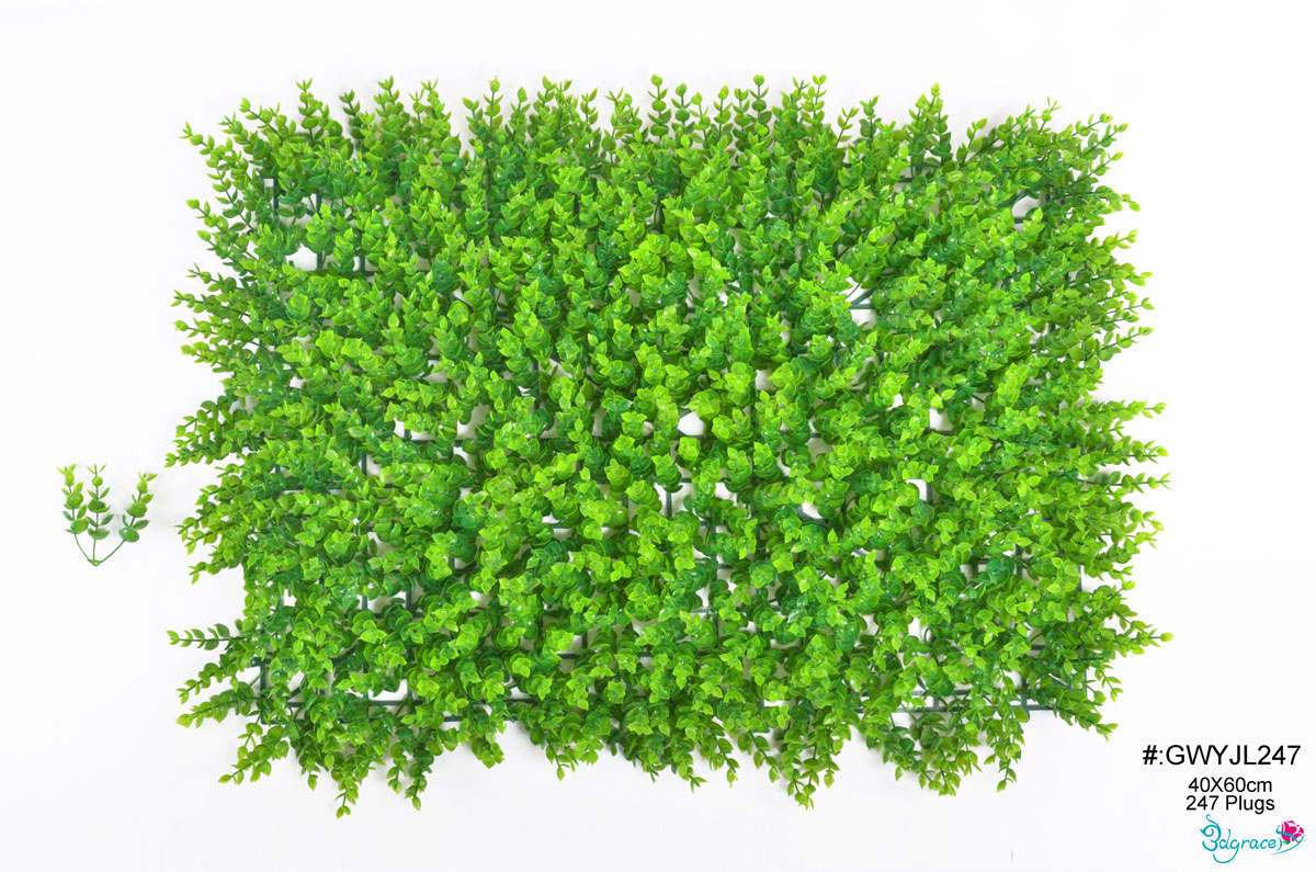 GW Artificial Green Wall  GWYJL247 And GWYJL308 Green