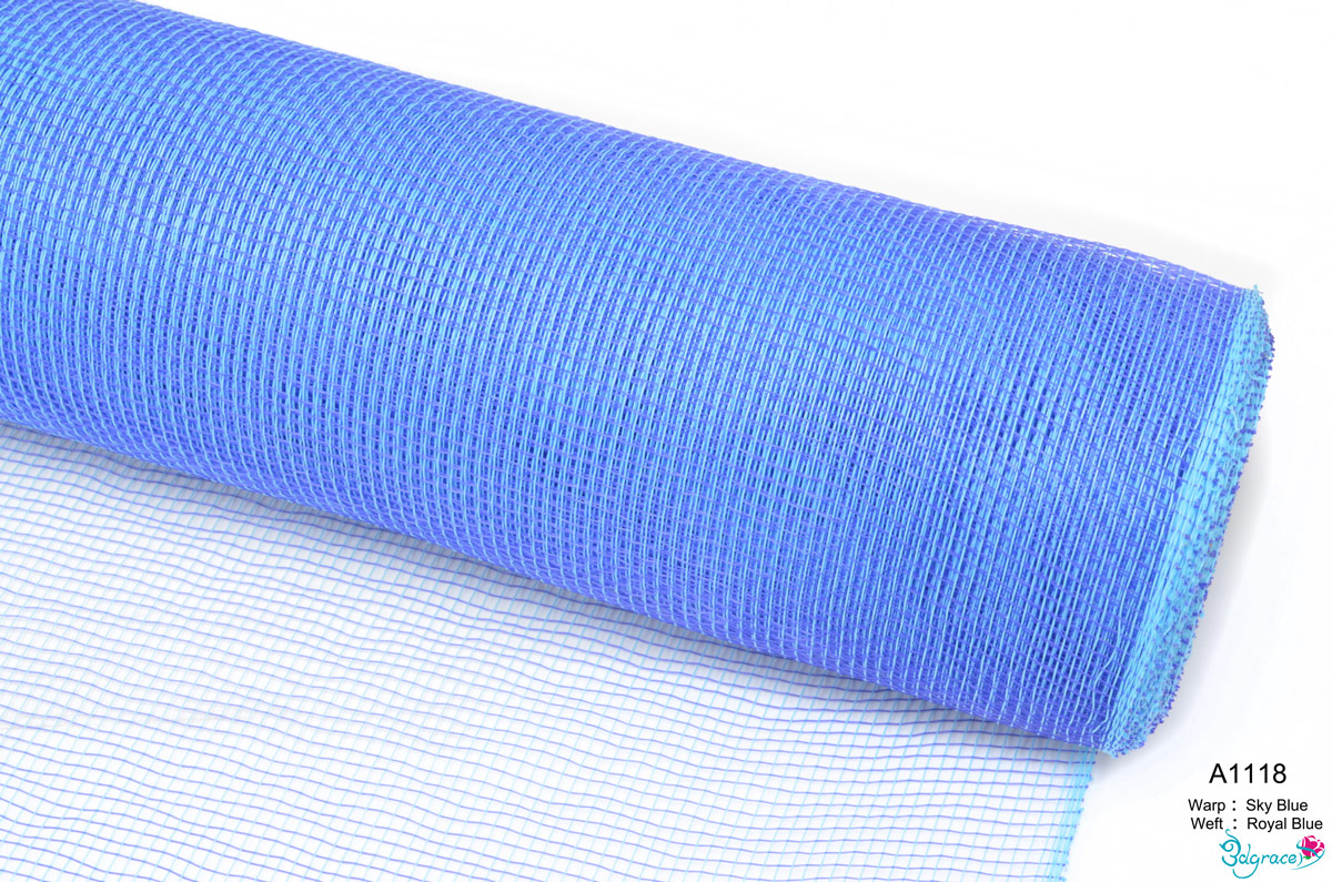 AXY Plain Mesh A1118 Mixed Sky Blue And Royal Blue